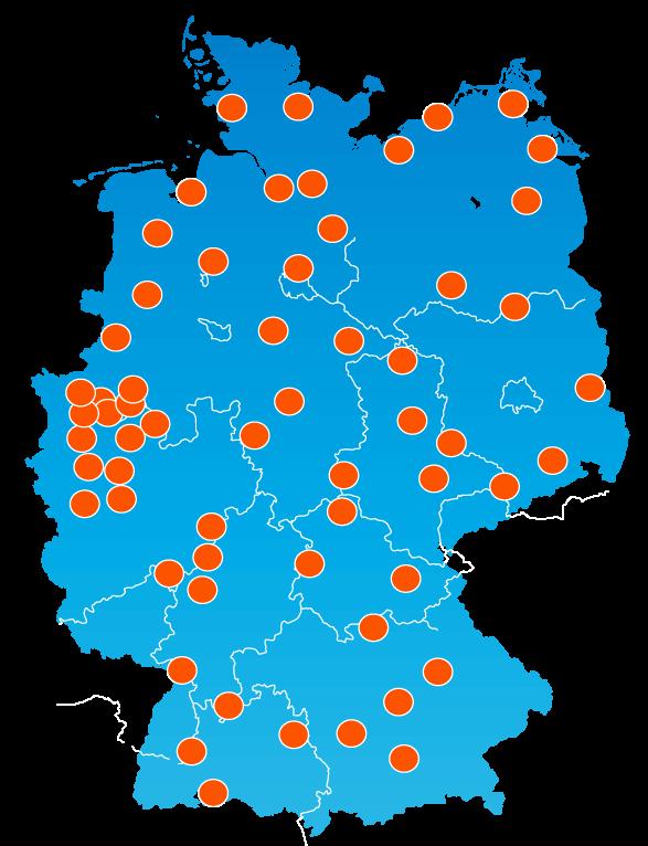 Lagerstandorte überall in Deutschland