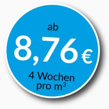Lagerraum mieten ab 8,76 Euro