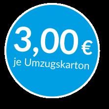 Preis Umzugskarton 3€