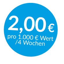 Lagerversicherung und Transportversicherung ab 2 € pro Monat