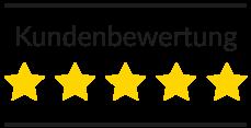Unsere Kundenbewertungen: 5 Sterne