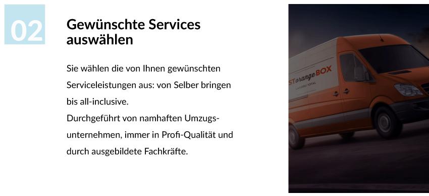 Service auswählen